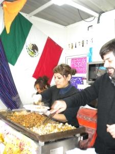 Mexikansk mat vid Plaza de España