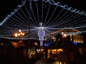 Julbelysning vid Plaza de Jacinto Benavente