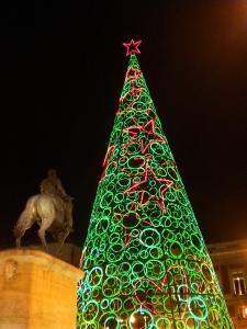 Julgran vid Puerta del Sol